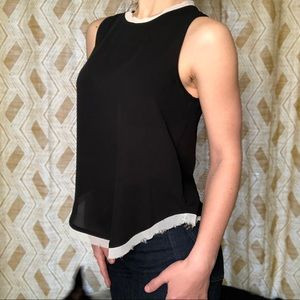 Who What Wear Silky Black Tank
